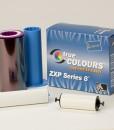 ymckk colour card printer ribbon YMCUvK colour card printer ribbon YMCKI 5 panel colour ribbon monochrome black ribbon