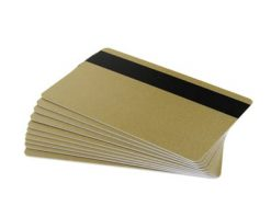 Gold 760 micron PVC cards