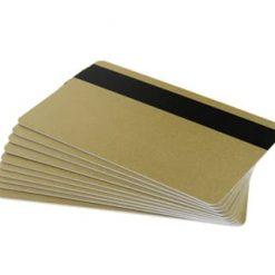 Gold 760 micron PVC cards